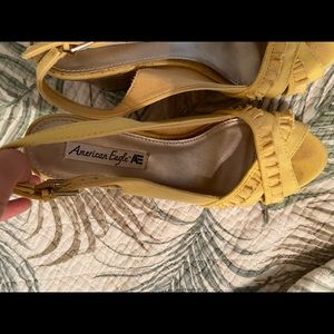 American Eagle Outfitters Shoes - Yellow wedges